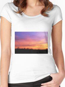 Wisps of Orange & Purple Women's Fitted Scoop T-Shirt