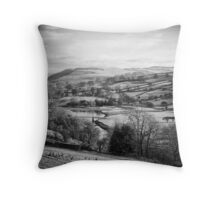 A bridge of the river Swale Throw Pillow