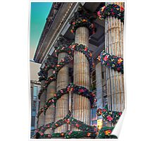 Festive Columns Poster