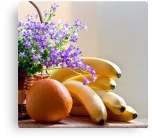 Fruits and Flowers Canvas Print