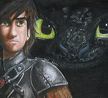 Hiccup and Toothless  by meliesereid