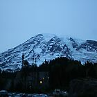 Mt. Rainier at night by skreklow