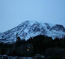 Mt. Rainier at night by skreklow