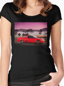 Kim Smith's VY Holden Commodore Ute 'Wildfire' Women's Fitted Scoop T-Shirt