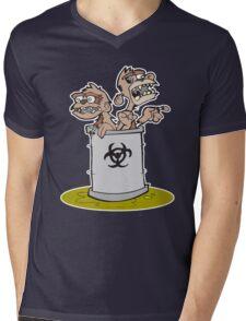 Zombie Barrel of Monkeys Mens V-Neck T-Shirt