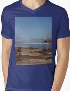 a desolate Djibouti landscape Mens V-Neck T-Shirt