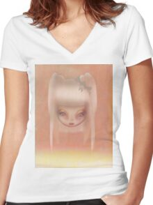Grunge Doll Women's Fitted V-Neck T-Shirt
