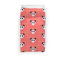 Panda's heart Duvet Cover