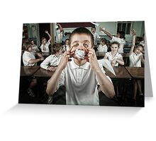 School Daze - Class Clown (part 2) Greeting Card