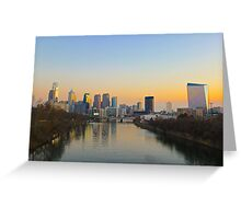 Philadelphia Skyline at Sunset Greeting Card