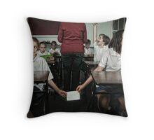 School Daze - The Note Passers Throw Pillow