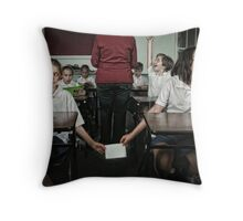 School Daze - The Note Passers Throw Pillow