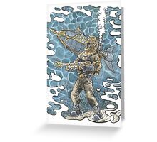 Diving Suit from 20,000 Leagues Under the Sea Greeting Card