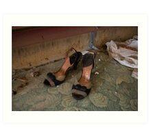 Abandoned Ladies heels Art Print