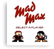 Mad Max Fury Road 80's Video Game Canvas Print