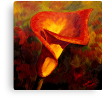 Fiery Calla Lily Canvas Print