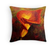 Fiery Calla Lily Throw Pillow