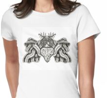 Viscera Moth Womens Fitted T-Shirt