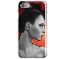 Red Warrior Woman Painting iPhone Case/Skin