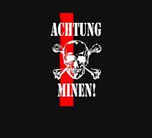 Achtung! - German Minefield Warning (white) Unisex T-Shirt