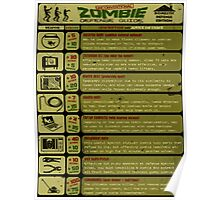 Zombie Defense Guide - Outbreak Emergency Poster! Poster