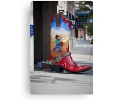 Large Boot Canvas Print