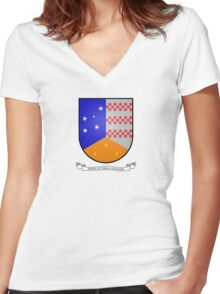 Coat of Arms of Chilean Antarctic Territory Women's Fitted V-Neck T-Shirt