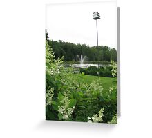 Fountain - Richards Trout Pond, Maine Greeting Card