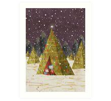 Tree Tent Art Print