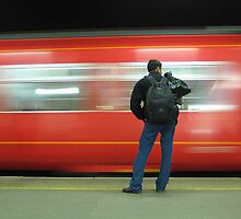 The train now arriving on platform three.....  by VivVid