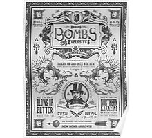 Legend of Zelda Barnes Bombs Vintage Ad Poster