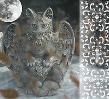 Cat Gargoyle in window by PhOtOgaljan