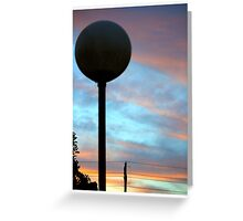 Sunset behind the light pole Greeting Card