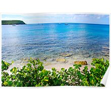 Esperanza Beach waters Poster