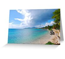 Esperanza Beach and town Greeting Card