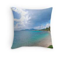 Esperanza Beach and town Throw Pillow