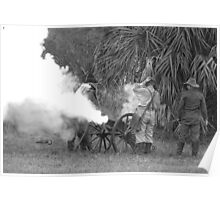 Southern artillary BW Poster