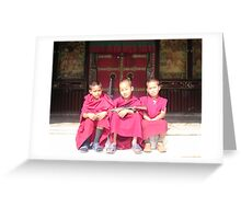 Monks With Guns Greeting Card