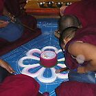 Nuns making Sand Mandala by Shanna Underwood