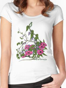 Flowers and Vines Women's Fitted Scoop T-Shirt