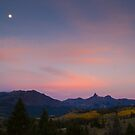 Moonset, Pilots Peak, Wyoming by Albert Dickson
