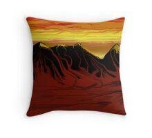 Desert Blood Throw Pillow