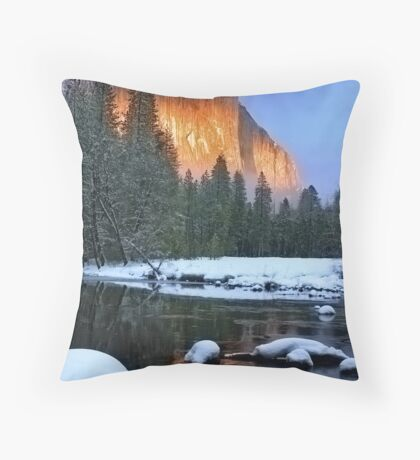 AlpenGlow-El Capitan: Yosemite National Park Throw Pillow