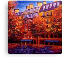 Autumn in Paris Canvas Print