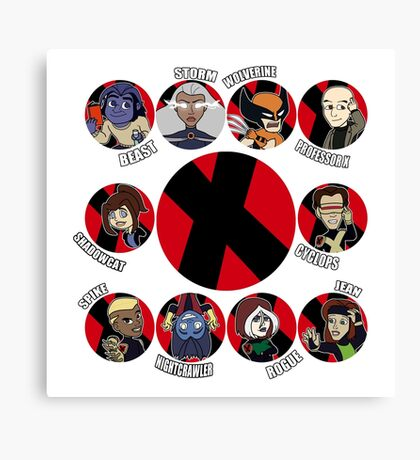 Xmen Evolution - Team Xmen Canvas Print