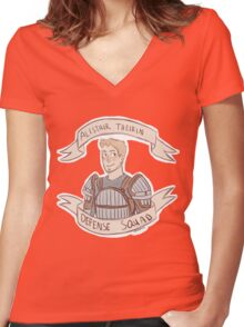 Dragon Age Origins: ALISTAIR THEIRIN DEFENSE SQUAD Women's Fitted V-Neck T-Shirt