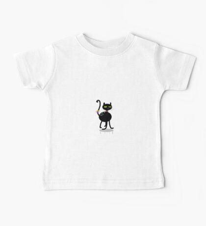 Black kitten,  whimsy art Baby Tee