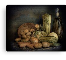 Still Life Vegetables  Canvas Print
