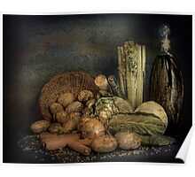 Still Life Vegetables  Poster
