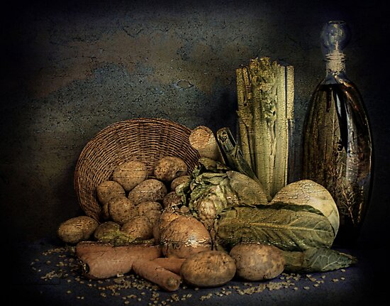 Still Life Vegetables  by Irene  Burdell